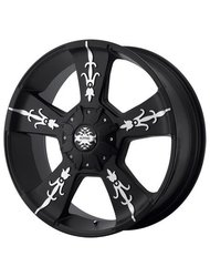 Диск колесный KMC KM668 9x22/5x150 D110 ET30 Black/Machined - фото 1