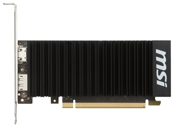 MSI GeForce GT 1030 1265Mhz PCI-E 3.0 2048Mb 6008Mhz 64 bit HDMI HDCP Silent LP OC