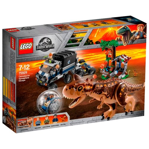 Купить Конструктор LEGO Jurassic World 75929 Побег в гиросфере от Карнотавра, Конструкторы