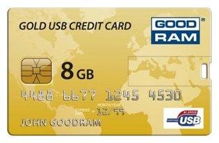 GoodRAM Флешка GoodRAM GOODDRIVE Gold USB Credit Card 8Gb
