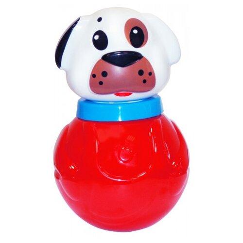Купить Неваляшка Пластмастер Белый щенок (11321) 16.5 см красный/белый, Неваляшки