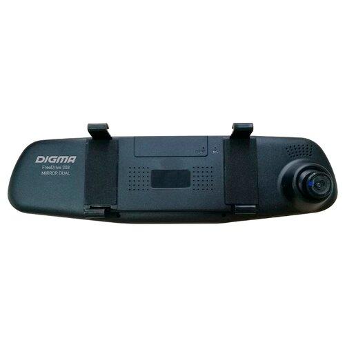 Видеорегистратор DIGMA FreeDrive 303 MIRROR DUAL, 2 камеры черный