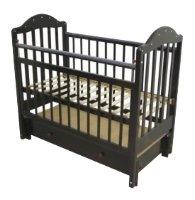 Кроватка Мой малыш 10 Сваровски (маятник продольный)