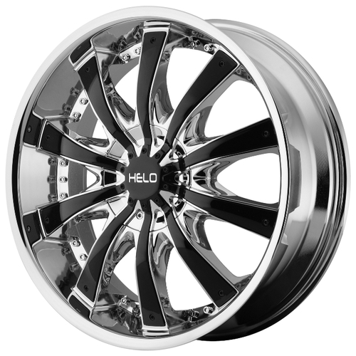 Колесный диск Helo HE875 9.5x26/6x135 D106.25 ET15 Chrome Plated With Gloss Black Accents