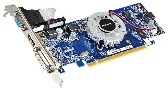 GIGABYTE Radeon R5 230 625Mhz PCI-E 2.1 1024Mb 1066Mhz 64 bit DVI HDMI HDCP