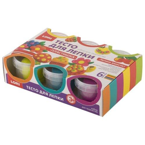 Купить Масса для лепки LORI Пластишка 13 - 6 цветов (Тдл-016), Пластилин и масса для лепки