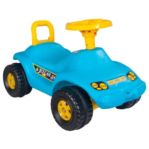 Купить Каталка-толокар pilsan Jet Car (06806) со звуковыми эффектами голубой, Каталки и качалки