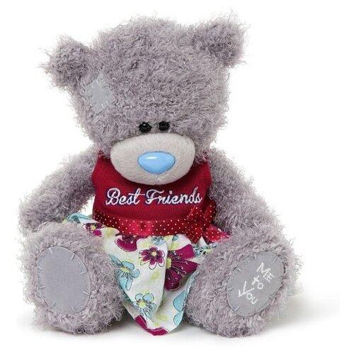 Мягкая игрушка Me to you Мишка Тедди в платье Best friends 20 см платье me
