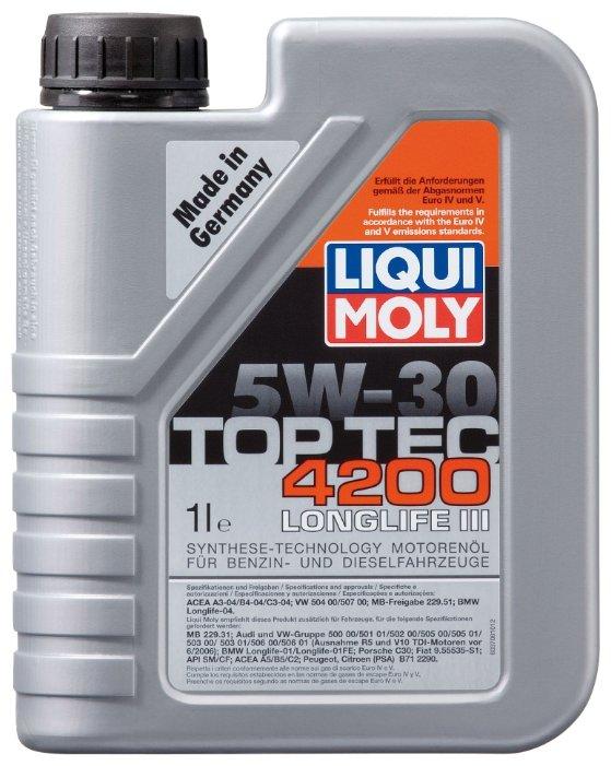 Моторное масло LIQUI MOLY Top Tec 4200 5W-30 1 л