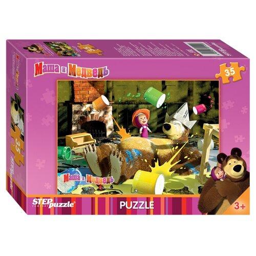 Купить Пазл Step puzzle Анимаккорд Маша и Медведь (91120), элементов: 35 шт., Пазлы