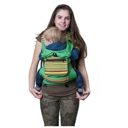 Купить Эргорюкзак Чудо-Чадо Уичоли зеленый, Рюкзаки и сумки-кенгуру