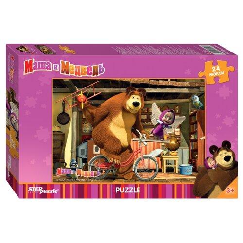 Купить Пазл Step puzzle Анимаккорд Маша и Медведь (90013), элементов: 24 шт., Пазлы