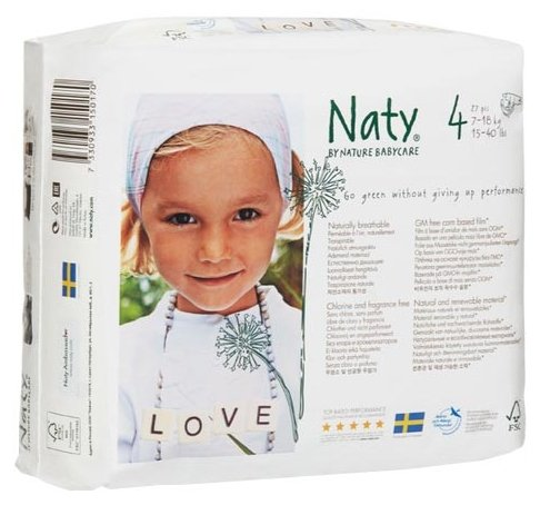 Naty подгузники 4 (7-18 кг) 27 шт.