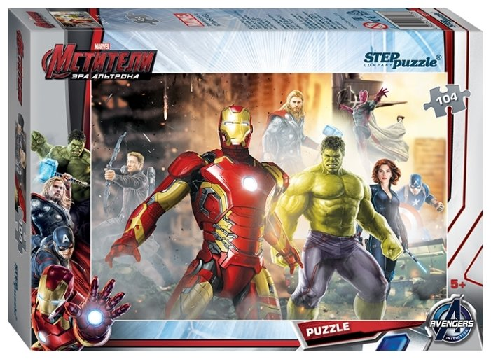 Пазл Step puzzle Marvel Мстители - 2 (82137), 104 дет.