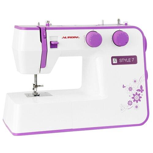 Швейная машина Aurora STYLE 7, бело-сиреневый