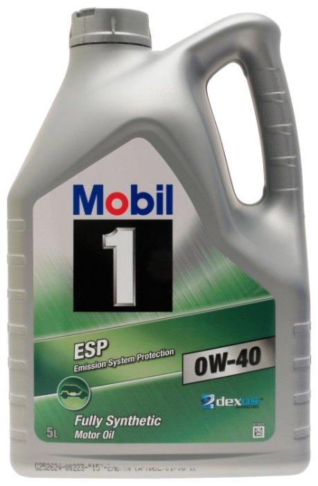 Моторное масло MOBIL 1 ESP 0W-40 5 л