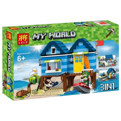 Конструктор Lele My World 33036 Отпуск у моря 3 в 1