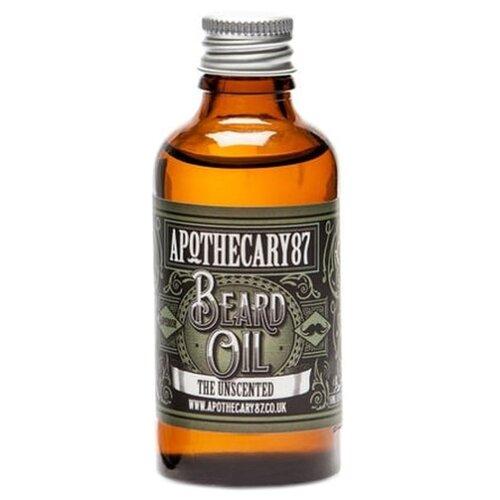 Apothecary 87 Масло для бороды без запаха The Unscented Beard Oil, 50 млДля бороды и усов<br>