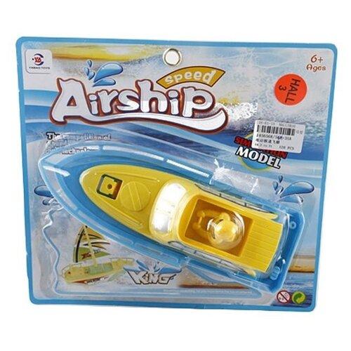 Катер Shantou Gepai Speed Airship King (586-35A) голубой/желтый катер shantou gepai hot yacht желтый 15 см 311 67