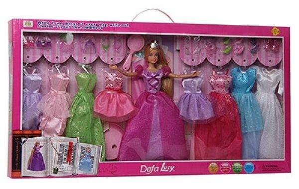 Кукла Defa Lucy Принцесса с набором платьев, 29 см, 8266