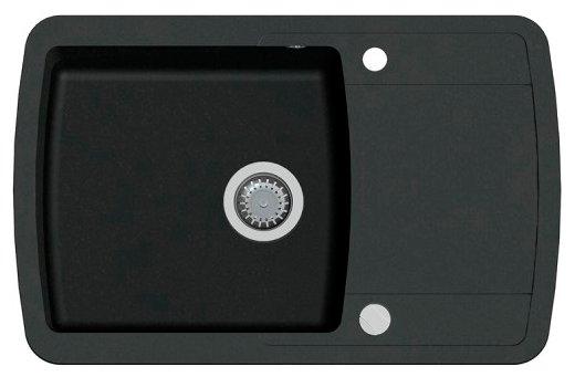 Врезная кухонная мойка AQUASANITA Lira SQL101 78х50см искусственный гранит