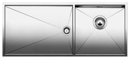 Врезная кухонная мойка Blanco Zerox 400/550-T-U 101.5х44см нержавеющая сталь