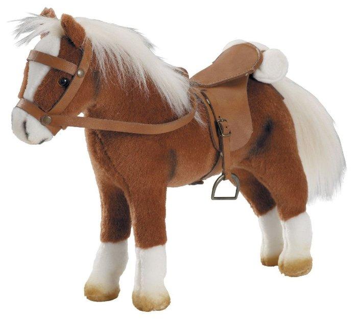 Игрушечная лошадь для кукол с седлом и уздечкой коричневая gotz 3401099