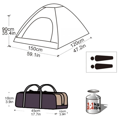 Палатка KingCamp Dome Junior 2 Палатки
