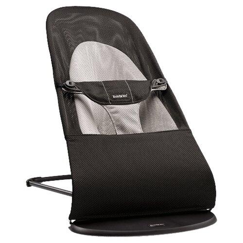 black gray Шезлонг BabyBjorn Balance Soft (сетка) Black/gray
