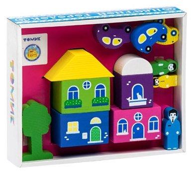 Кубики Томик Цветной городок розовый 8688-5