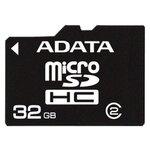 Карта памяти ADATA microSDHC Class 2 + SD adapter