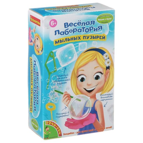 Набор BONDIBON Весёлая лаборатория мыльных пузырей (ВВ1320) игрушка бластер для мыльных пузырей дельфин 11 01249 066