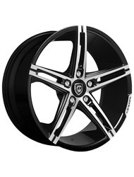 Lexani 8,5x19/5x114,3 ET35 D74,1 R3 Black/Machined Диск - фото 1