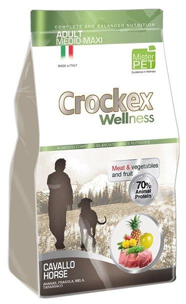 Корм для собак Crockex Wellness Adult Medio-Maxi конина с рисом
