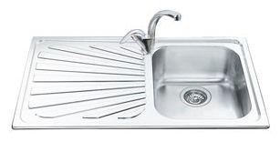 Врезная кухонная мойка smeg SP861S 86х50см нержавеющая сталь