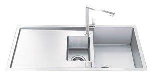 Интегрированная кухонная мойка smeg LR102 100.4х50.4см нержавеющая сталь