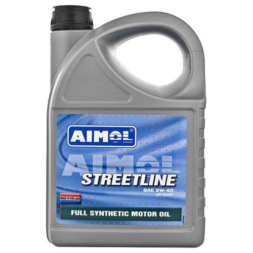 Моторное масло Aimol Streetline 5W-40 4 л моторное масло aimol pro line f 5w 30 1 л 8717662396557