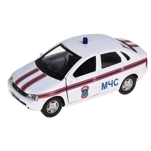 Легковой автомобиль Autogrand Lada Kalina МЧС (11494) 1:34 14 см белый/оранжевый/синий