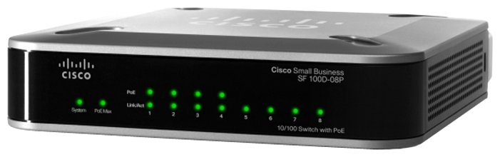 Коммутатор Cisco SF100D-08P