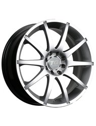Диск TG Racing LZ145 7.0x17/4x108 (4x114.3) D73.1 ET40 Matt Black Pol/lip - фото 1