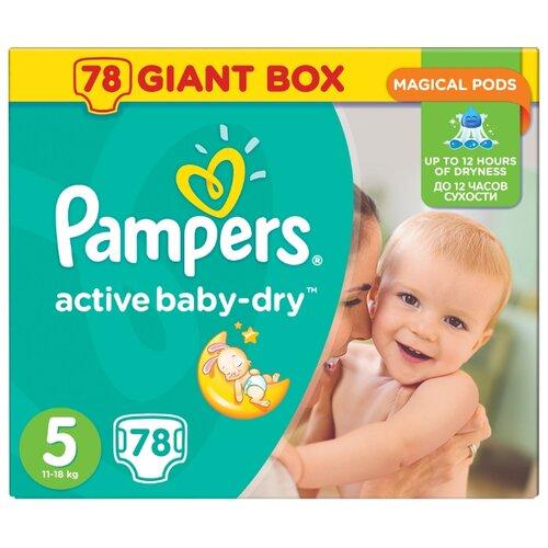 Pampers подгузники Active Baby-Dry 5 (11-18 кг) 78 шт.Подгузники<br>