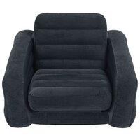 Надувное кресло Intex Pull-Out Chair черный