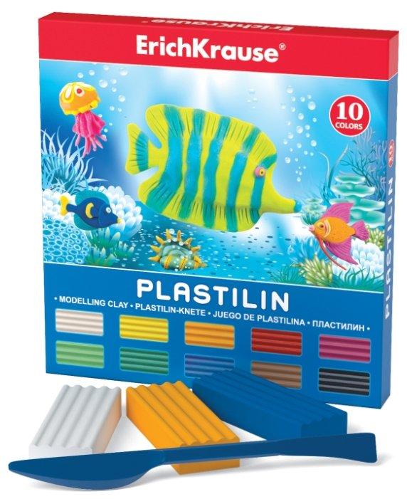 Пластилин ErichKrause Классический 10 цветов/180 г (30652)