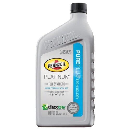 Фото - Моторное масло Pennzoil Platinum Full Synthetic SAE 5W-20 0.946 л моторное масло pennzoil gold synthetic blend sae 5w 30 0 946 л