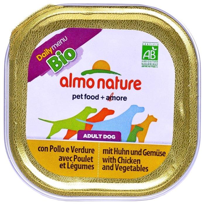 Корм для собак Almo Nature Daily Menu курица с овощами 32шт. х 100г