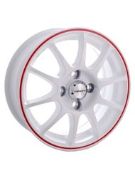 Диск TG Racing TGR001 7.5x18/5x114.3 D67.1 ET40 White Red Ring - фото 1