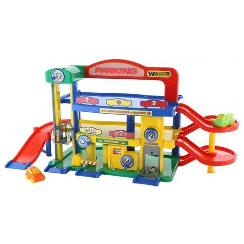 Wader Паркинг Garage №1 Premium 40398 красный/синий/зеленый/желтый, Детские парковки и гаражи  - купить со скидкой