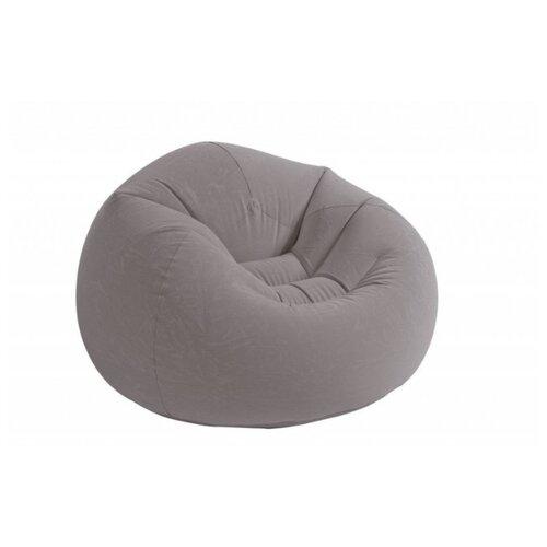Надувное кресло Intex Beanless Bag Chair серыйНадувная мебель<br>