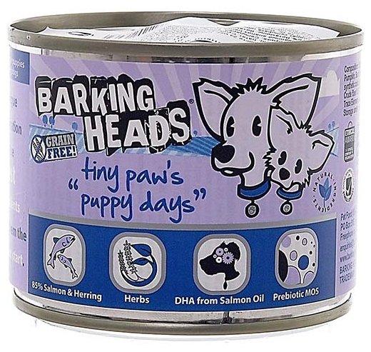 Корм для собак Barking Heads Консервы для щенков мелких пород с лососем Щенячьи деньки