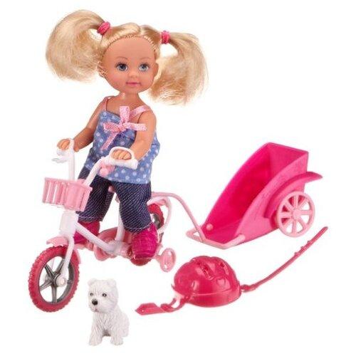 цена на Набор Simba Еви на велосипеде с собачкой 12 см, 5730783